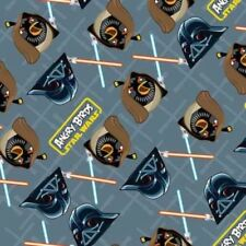 Camelot Cottons Angry Birds Star Wars 73300105 2 Grey Duel   Cotton Fabric