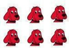 Clifford Big Red Dog Edible Party Image Cupcake Topper Frosting Sheet Circles
