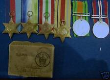 Set of 6 World War II medals, with box, inc 4 stars