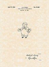 Walt Disney Patent Drawing Prints Collection ((9) Prints Total)