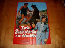 Kinoplakat:  Zwei Schlitzohren in der gelben Hölle  KARIN SCHUBERT+BRAD HARRIS
