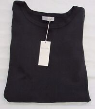 Ladies Marks and Spencer per Una Navy Jumper With Embroidered Sleeves Size 16