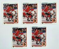 Jeremy Roenick 1990-91 Upper Deck RC Lot of Five 5 Rookies Chicago Blackhawks