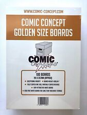 More details for comic concept golden size comic back  boards (191 x 26mm approx) 5-100 boards