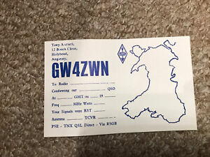 Radio Collectible QSL Card From GW4ZWN