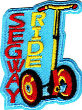 """""""SEGWAY RIDE"""" - VEHICLE - CYCLES - RIDE - Iron On Embroidered Patch"""