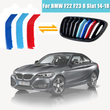 M-Color Front 8 Slat Grille Trim Strips Cover Clip For BMW 2 Series F22 F23