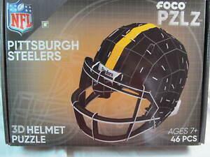 NIB NFL PITTSBURGH STEELERS FOCO PZLZ 3D HELMET PUZZLE, 46 pcs.