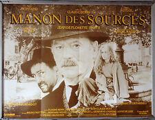 Cinema Poster: MANON DES SOURCE 1986 (Quad) Yves Montand Emmanuelle Béart