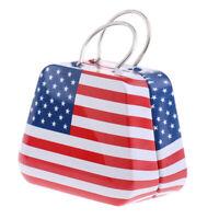 1:12 Dollhouse Miniature US Flag Luggage Box Suitcase Dolls Accessories