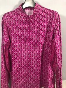 Icikuls XL Womens Long Sleeve Pullover Pink Zip Neck Outdoor stretch