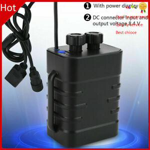 8.4V 6x Waterproof Battery Pack Box House Case Cover For Bike Lamp Strap❤T