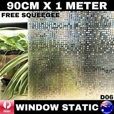 90CM x 1M Static Cling Glueless Reusable Removable Privacy Window Glass Film D06