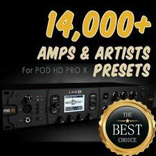 ✪ 14,000+ presets ✪ for Line 6 POD HD PRO X ✪ patches bundle Collection✪
