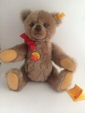 """Steiff Old Time Growler Mohair Bear Mint 12"""" Glass Eyes All Tags 1987"""
