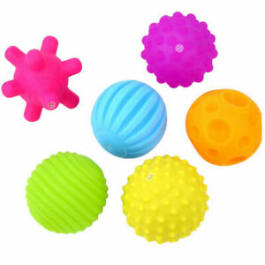 6Pcs Ball Multi Textured Set Infantino Baby Toy Sensory New Develop Touch Trendy