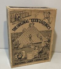 Vtg Antique Palmer Cox Brownies National Candy Company Box XXXX Lozenges