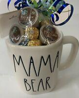 "VHTF!😍 Rae Dunn ""MAMA BEAR"" Mug 🎀 2 Sided ☕ w/ Starbucks & Truffles 💕"