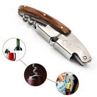 Multi-function Corkscrew Wine Bottle Opener Hippocampus cutter Wood Handle Fine