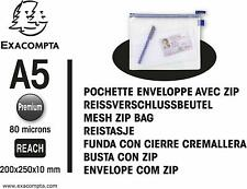 Exacompta 56630e Schutzhülle Beutel mit Reißverschluss Zip, A5