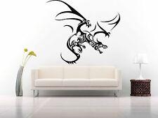 Wall Room Decor Art Vinyl Sticker Mural Decal Tribal Monster Dragon Draco FI690