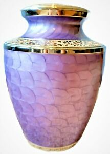 Lavender Truly Cherish Brass Urn, Full Size, for Cremated Ashes of an Adult