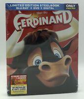 Ferdinand (Blu-ray+DVD+Digital, 2018; Only @ Best Buy SteelBook) NEW