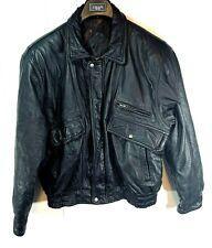 Vintage Clover Leather Euro Fashion Mode Motorcycle Jacket Coat Men's Size L