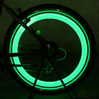 2X Neon LED Reifen Auto Fahrrad Rad Licht Lampe Ventilkappe Ventil DE X1R7 L0W6