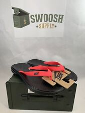 NEW Nike Solay Thong Flip Flops Sandals Black/Red Men's 882690-601 Size