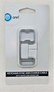 ONN Keychain Synch and Charge Cable, Bottle Opener w/ Lightning Connector
