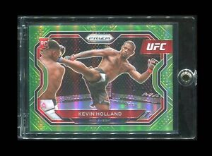 2021 Prizm UFC KEVIN HOLLAND RC Rookie Neon Green /75 - Middleweight - MINT!