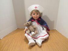 "Susan Wakeen Vinyl & Cloth 20"" Tender Love & Care Nurse W/ Teddy Bear 52/2000"