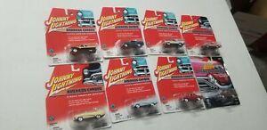 8 Johnny Lightning American Chrome  Car Lot NEW