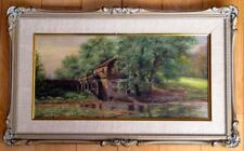 Antique Authentic Original British Oil Painting Signed Milford ca 1880-1910