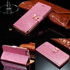 Bling Leather Case Magnetic Flip Wallet Stand Cover For iPhone Samsung Galaxy T