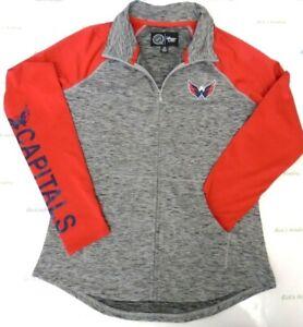 Washington Capitals Women's M GIII 4her Energize Full Zip Hoodie Jacket 977
