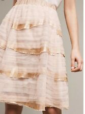 NWT $158 Anthropologie Ivory cascade skirt by Tiny size L