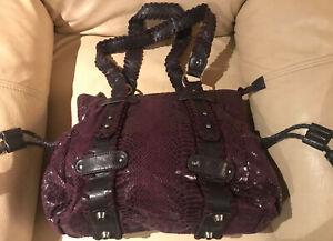 FRIIIS Stylishe Damen Handtasche Bag Beutel Schultertasche Lila