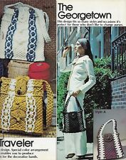 Macrame Purse Fashions Book Vintage 1970's Hippie Boho Shoulder Bag Patterns