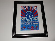 "Large Framed Led Zeppelin Houses of the Holy 1973 Poster Chicago 24"" by 20"""