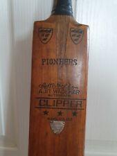 More details for vintage pioneer cricket bat clipper ajit wadekar kashmir willow hand rolled