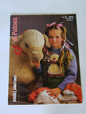 "Vintage Knitting Pattern Patons DK Child's Little Bo Peep Sweater 22-30"" B 8402"