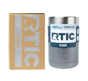 RTIC Stainless Steel Can Cooler 12oz Graphite, Camo, or White