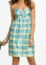 PURELY ALFRED ANGELO 7111 SILK PLAID 12 BRIDESMAID PARTY CRUISE GRAD SUN DRESS