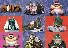 DINOSAURS TV SHOW 1992 PRO SET COMPLETE BASE CARD SET OF 50 & 5 TRIVIA CARDS