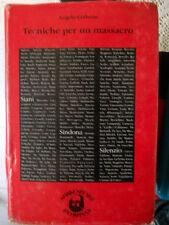TECNICHE PER UN MASSACRO di Angelo Cerbone ed. Shakespeare & Co. 1988