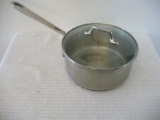 EMERIL 2 QT. STAINLESS COPPER CORE SAUCEPAN with GLASS LID