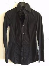 DSQUARED2 Gr. 42 Schwarz Damen Oberteil Shirt Blouse Hemd Chemise