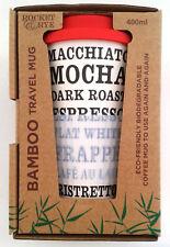 Rocket & Rye, BAMBOO, Reusable, Eco-friendly, 400 ML, Coffee Travel Mug, New